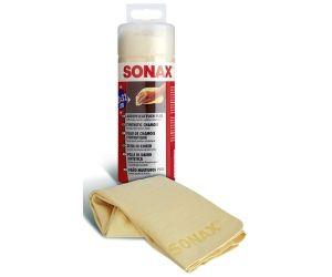 Синтетическая замша для сушки авто в тубе SONAX Synthetic Chamos Plus 43х32 см